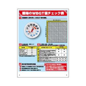 ユニット(UNIT)【HO-515】WBGT値チェック表 (温湿度計付)
